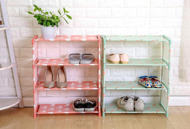 Kệ để giày 4 tầng vải không dệt hoa văn